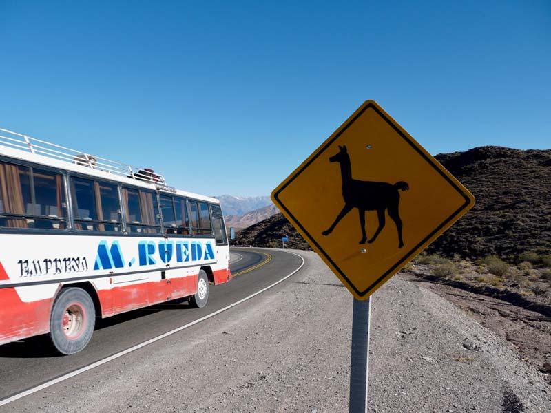 Argentinie Ruta 40 bustocht