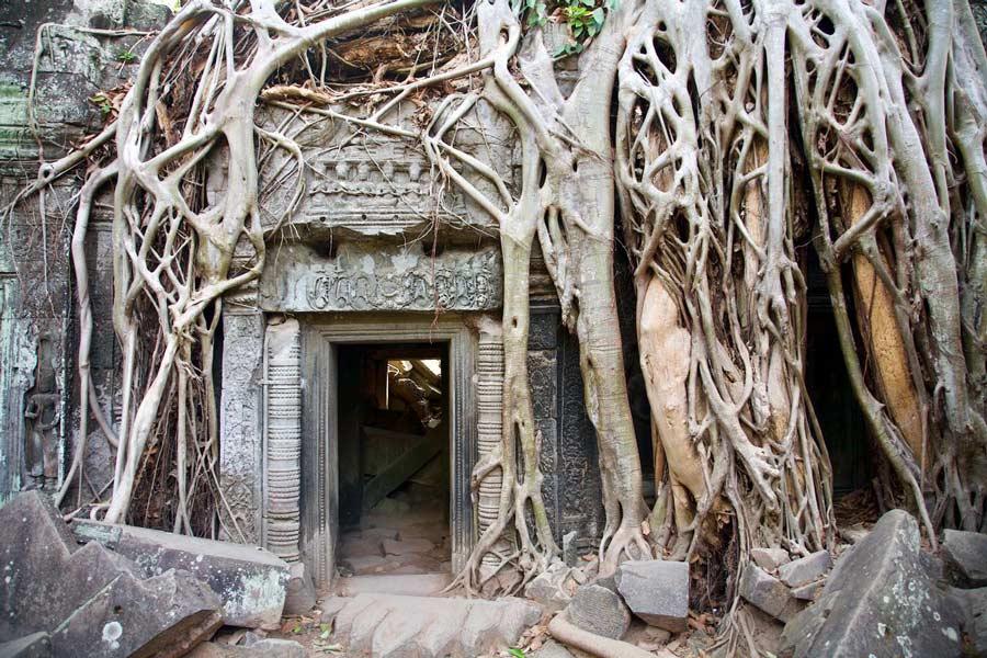 Cambodja Angkor Wat-Angkor Cambodja Angkor Wat-Angkor beroemdel tempel