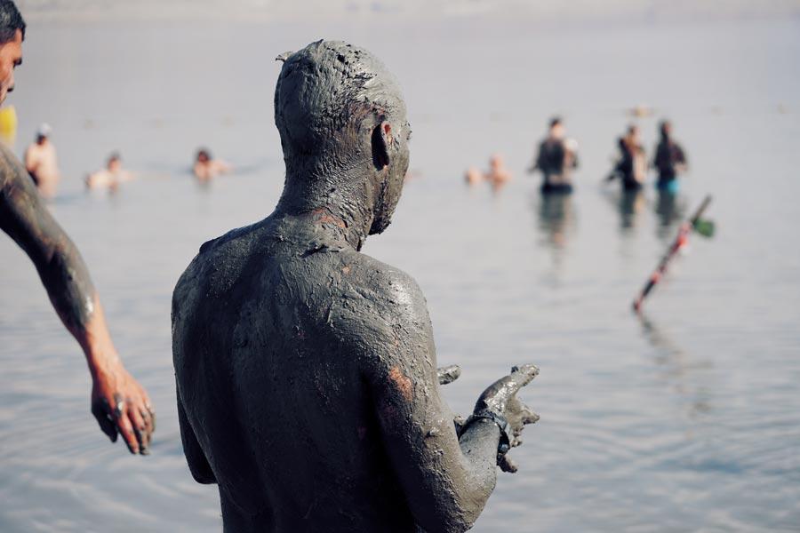 Dode Zee modder smeren heilzaam
