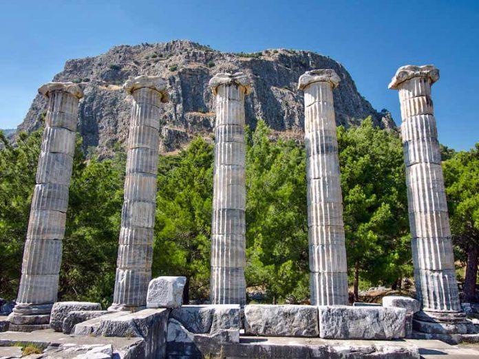 Priene vlakbij Efeze in Turkije