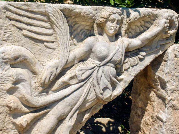 Nike in ruïnestad Efeze