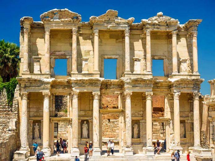 Efeze Turkije bibliotheek clerus