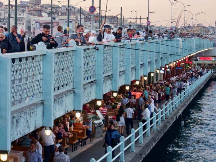 Galata brug Istanbul reizen