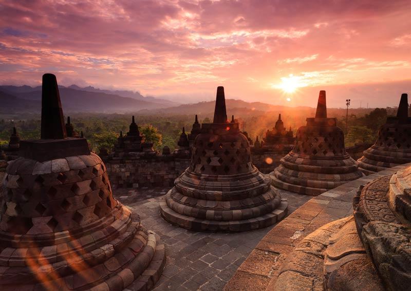 Bezoek Borobudur Java Indonesie