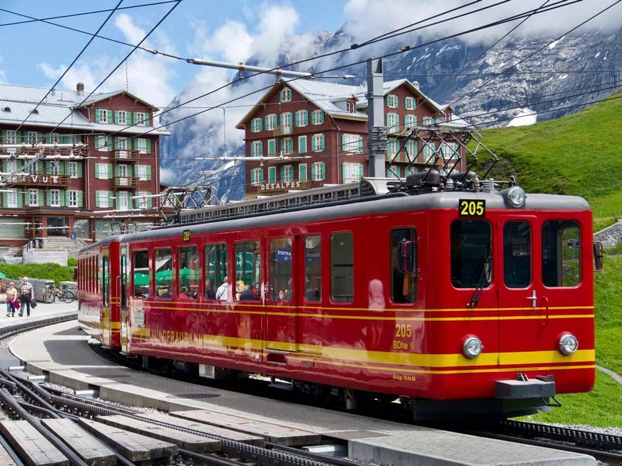 Jungfraubahn Interlaken Zwitserland populaire treinbaan