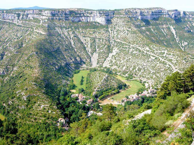 Natuurwonder Cirque de Navacelles in Languedoc-Roussillon