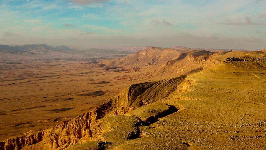 Uitzicht Negev woestijn