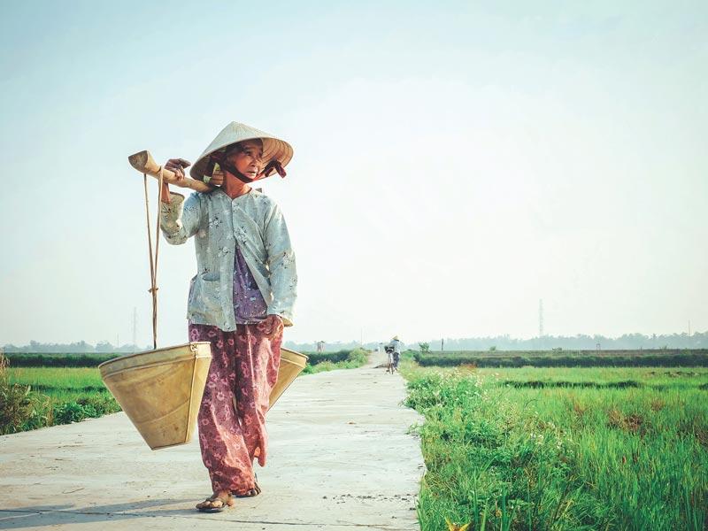 Noord Vietnam vlakbij Hanoi