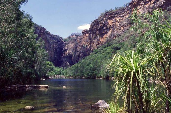De Jim Jim Falls in Outback Australie