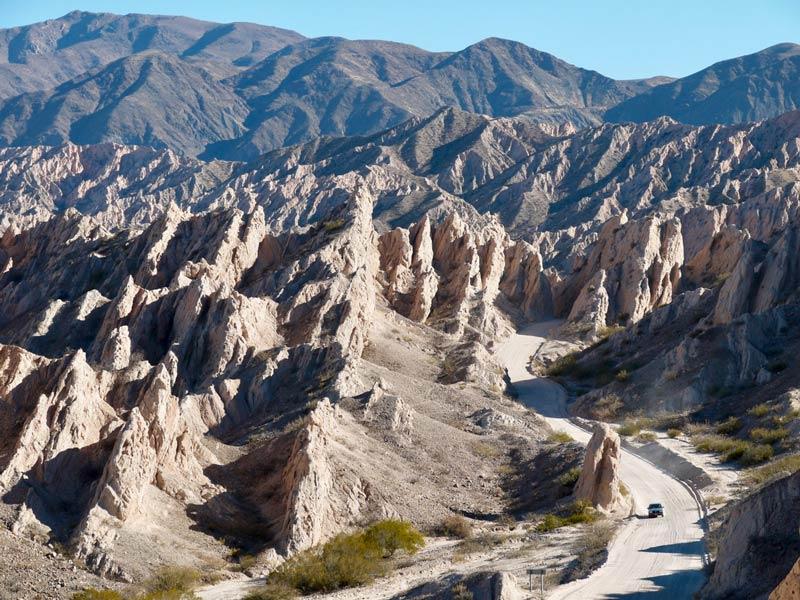 Ruta 40 Argentinie rotsen