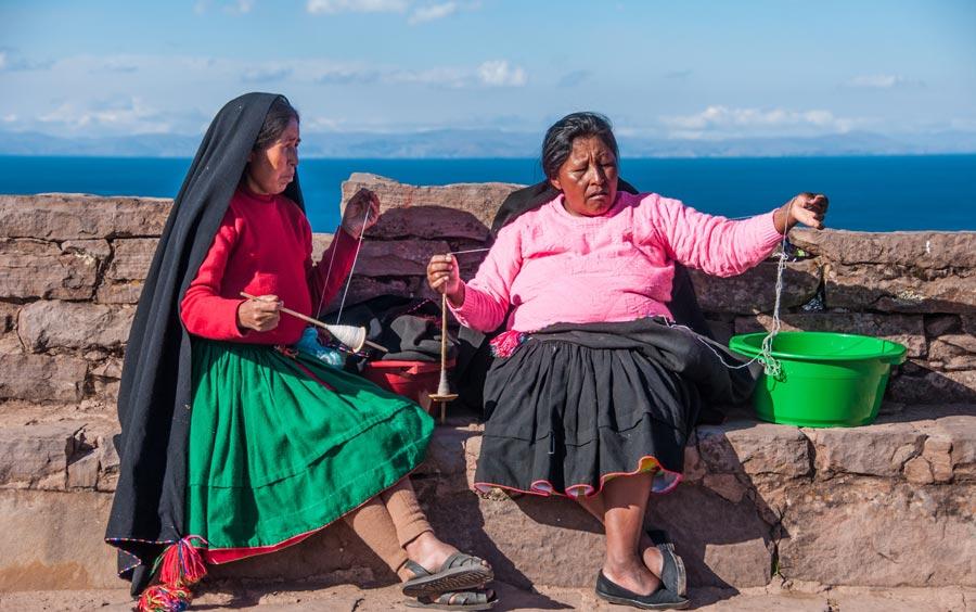 eiland van de wevers Titicacameer