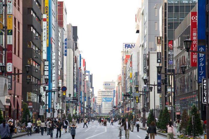 Ginza wijk Tokyo stedentrip