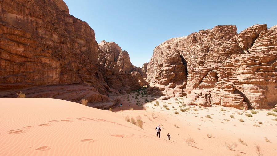 Landschap Wadi Rum