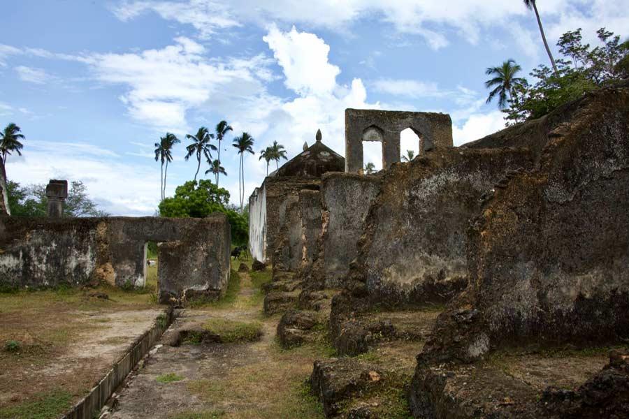 Zanzibar paleis sultan ruïne