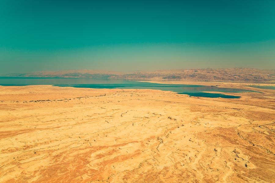 landschap dode zee Jordanië