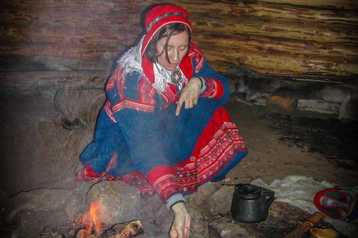 lapland finland sami ritueel tent