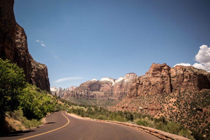 Zion park nationale parken Utah