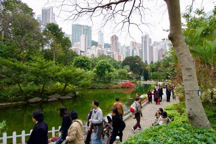 stopover Hong Kong park centrum stad