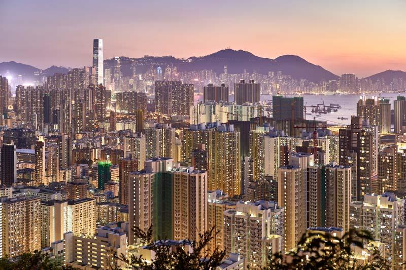 stopover Hong Kong stad uitzicht