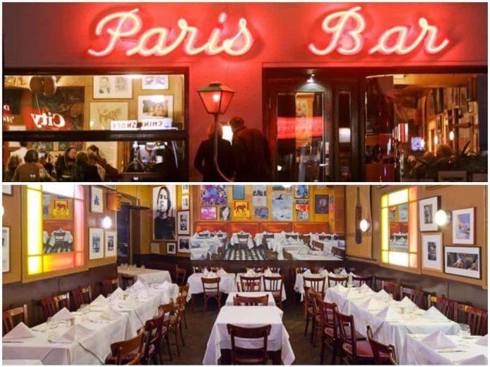Bowie at steak frites in Paris Bar