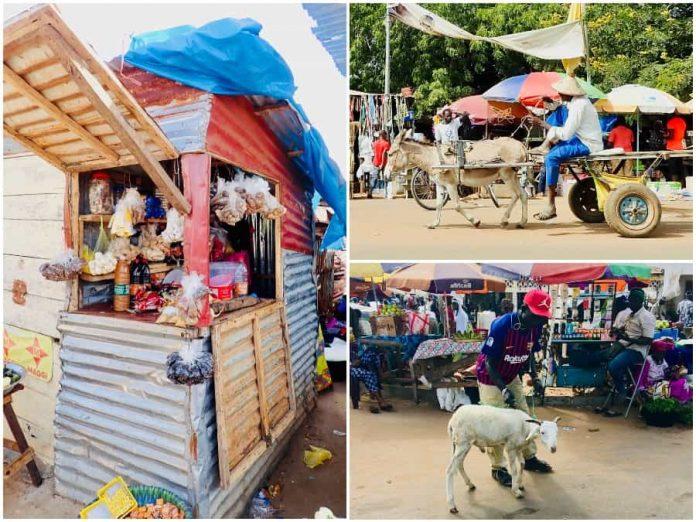 bezoek de markt tijdens vakantie naar Gambia